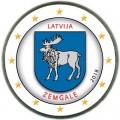 2 евро 2018 Латвия, Земгале (цветная)