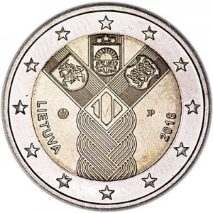 2 euro 2018 Lithuania, 100 years of independence