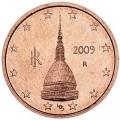 2 цента 2009 Италия, UNC