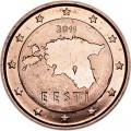 2 цента 2011 Эстония, UNC