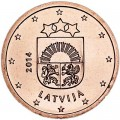 2 цента 2014 Латвия, UNC