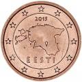 2 цента 2015 Эстония, UNC