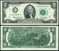 2 доллара 1976 США (С - Филадельфия), банкнота, хорошее качество XF
