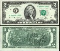 2 доллара 1976 США (F - Атланта), банкнота, хорошее качество XF
