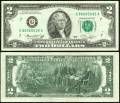 2 доллара 1976 США (G - Чикаго), банкнота, хорошее качество XF