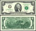 2 доллара 2013 США (K), банкнота, хорошее качество XF