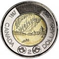2 dollars 2017 Canada 150 years of Confederation