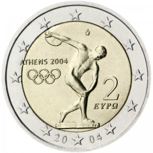 2 euro 2004 Greece, Summer Olympic Games (iscus throw)