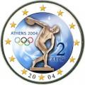 2 евро 2004 Греция, Летние Олимпийские игры 2004 в Афинах (Дискобол) (цветная)