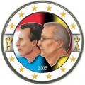 2 евро 2005 Бельгия, Бельгийско-Люксембургский экономический союз цветная