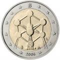 2 евро 2006 Бельгия, Атомиум в Брюсселе