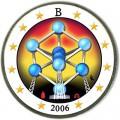 2 евро 2006 Бельгия, Атомиум в Брюсселе цветная