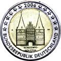 2 евро 2006 Германия, Шлезвиг-Гольштейн, двор А