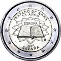 2 euro 2007 Treaty of Rome, Spain