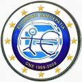 2 евро 2009 10 лет Экономическому и валютному союзу, Греция (цветная)