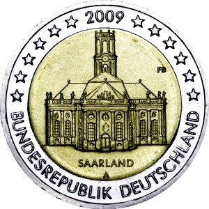 2 euro 2009 Germany, Saarland, mint A