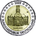 2 euro 2009 Germany, Saarland, mint J