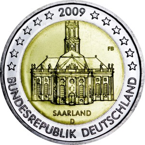 2 euro 2009 Germany, Saarland, mint D