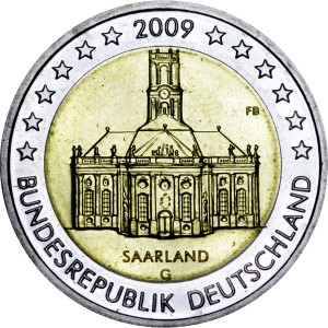 2 euro 2009 Germany, Saarland, mint G