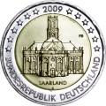 2 евро 2009 Германия, Саар, двор F