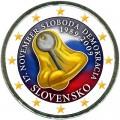 2 евро 2009 Словакия 20 лет с начала Бархатной Революции, цветная