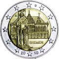 2 euro 2010 Germany, Town Hall of Bremen, mint A