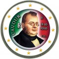 2 euro 2010 Italy 200th anniversary of the Count of Cavour's birth, color