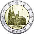 2 euro 2011 Germany North Rhine-Westphalia Cologne Cathedral, mint G