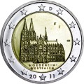 2 euro 2011 Germany North Rhine-Westphalia, Cologne Cathedral, mint F