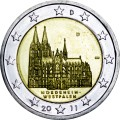 2 евро 2011 Германия, Северный Рейн - Вестфалия, двор D