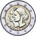 2 евро 2011 Монако Свадьба Принца Альберта и Шарлен Уиттсток