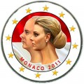 2 euro 2011 Monaco The wedding of Prince Albert and Charlene Wittstock (colorized)
