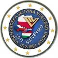 2 евро 2011 Словакия 20 лет формирования Вишеградской группы, цветная