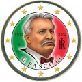2 euro 2012 Italy, 100 years since the death of the poet Giovanni Pascoli colorized