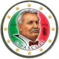 2 евро 2012 Италия, 100 лет со смерти поэта Джованни Пасколи, цветная