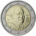 2 euro 2012 Italy, 100 years since the death of the poet Giovanni Pascoli