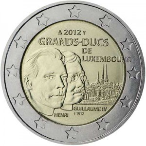2 euro 2012 Luxembourg: 100th Anniversary of the death of the William IV