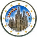 2 euro 2012 Spain Burgos Cathedral colorized