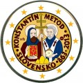 2 euro 2013 Slovakia Cyril and Methodius, colorized