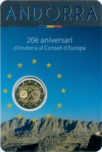 2 euro 2014 Andorra, 20th anniversary of accession to the Council of Europe