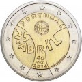 2 euro 2014 Portugal 40th Anniversary of the Carnation Revolution