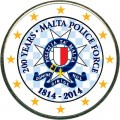 2 euro 2014 Malta 200 years of Malta Police Force (colorized)