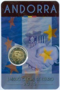2 euro 2015 Andorra, 25 Years of Customs Union with the EU