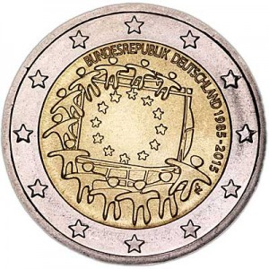 2 euro 2015 Germany, 30 years of the EU flag, mint G