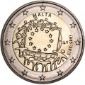 2 euro 2015 Malta, 30 years of the EU flag