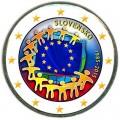 2 евро 2015 Словакия, 30 лет флагу ЕС (цветная)