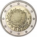 2 euro 2015 Lithuania, 30 years of the EU flag