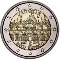 2 euro 2017 Italy, St. Mark's Cathedral in Venice