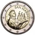 2 евро 2017 Сан-Марино, новый дизайн UNC