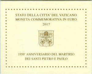 2 euro 2017 Vatican, Saints Peter and Paul